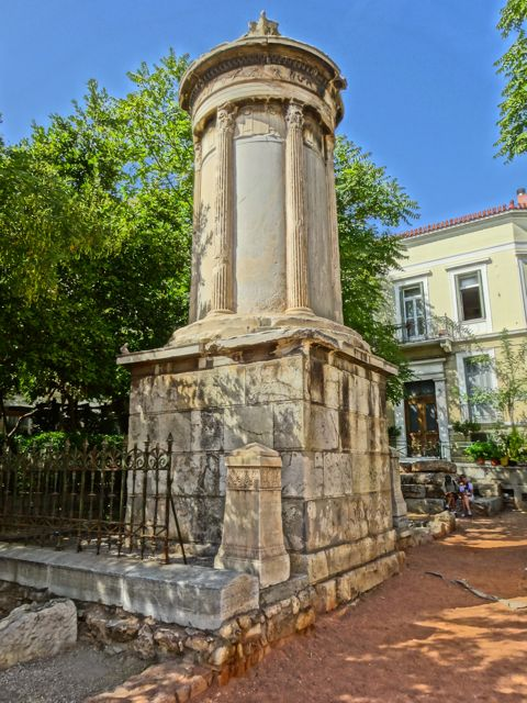 onument to Lissikratous, Plaka