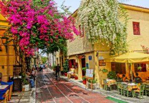 TRIPODON STREET in PLAKA ATHENS