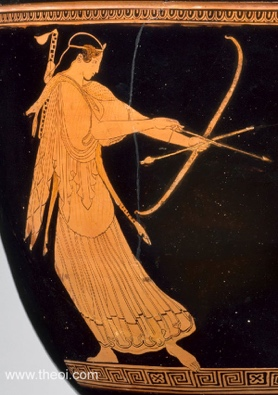 rtemis | Athenian red-figure bell krater C5th B.C. | Museum of Fi