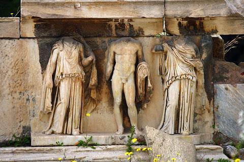 ionysus relief carving
